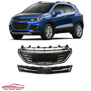 Fit 2017 2018 2019 Chevrolet Trax Upper And Lower Grille Grill Set Chrome