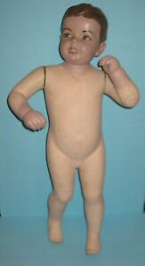 Vintage Department Store Little Boy Wood Mannequin 1930 40s Free Shipping
