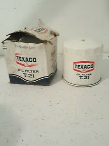 Nos Vintage Texaco T 21 Oil Filter Same As Ac Pf39 Fits Lots Of Vehicles