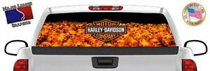 Harley Davidson Back Rear Window Graphic Perforated Film Decal Truck Suv