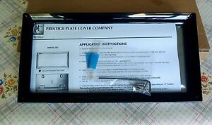 Prestige License Plate Cover Frame Black Plated Made In Usa Cheapest In Market
