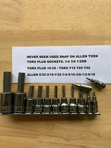 Snap On Allen Socket Set Torx Torx Plus