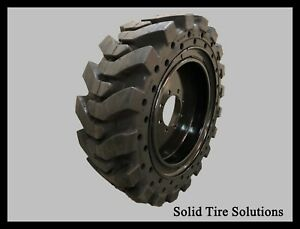 12x16 5 33x12x20 Solid Skid Steer Tires Set Of 4 With Rims