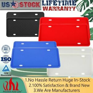 2 Pack Silicone License Plate Frame Scratch resistant Rust proof Cover License