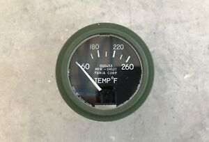Temperature Gauge M Series Willys Jeep 60 260 F 24volt Us Nos