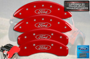 2013 2020 ford Fusion Front Rear Red Mgp Brake Disc Caliper Covers 4p Set