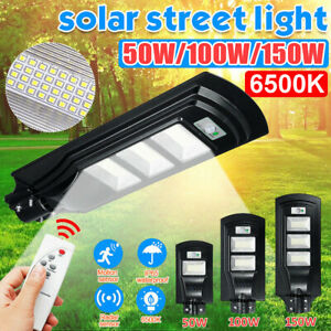 Waterproof Commercial LED Solar Street Light Outdoor Motion Gardem Road Lamp $42.99