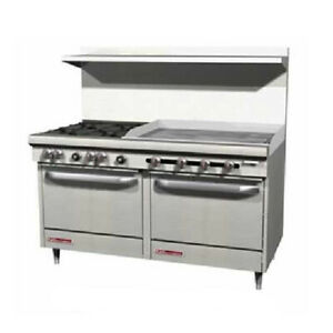 Southbend S60dd 3tr 60 Gas Range W 4 Burners 36 Thermostatic Griddle