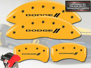 2011 2020 Dodge Charger R T Front Rear Yellow Mgp Brake Disc Caliper Covers