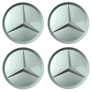 Genuine Set 4 Center Hub Cap For Alloy Wheel 7mm For Mb W124 W126 R129 W140