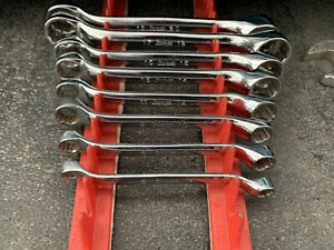 8 Snap On Box End Wrench 10 Offset Short Length 6 To 20 Mm Stubby Metric Xsm910