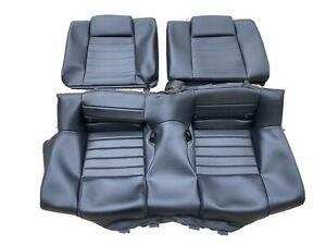 Oem Ford Mustang Gt Coupe Leather Rear Seat Covers Dark Charcoal black 05 09