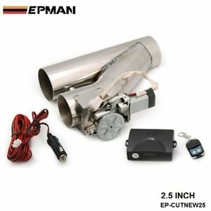 Exhaust Catback Turbo Electric E Cutout 2 5 Y Pipe With Remote