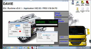 Daf Paccar Peterbilt Diagnostic Laptop Include Vci 1 0 Interface