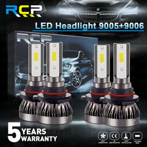 9005 9006 Combo Led Headlight Kits 120w High Low Beam Bulbs 6000k White