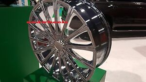 18 Inch Velocity V12 Chrome Wheels Rims Tires 5 X 114 3