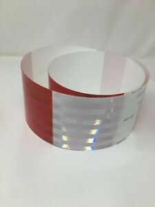 4 Reflective Truck Trailer Vehicle Conspicuity Safety Tape 3m Red White Dot 10
