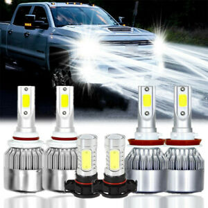 For Chevy Silverado 1500 2500 2007 2015 6000k Led Headlight Fog Light Bulbs