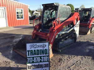 2017 Takeuchi Tl10v2 Compact Track Skid Steer Loader W Cab Super Clean 2300hrs