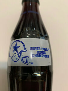 DALLAS COWBOYS SUPER BOWL CHAMPIONS 1994 XXVIII8OZ  COCA - COLA  BOTTLE