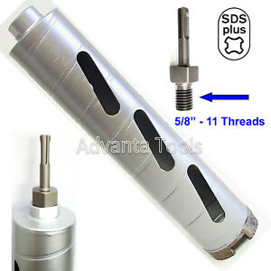 Combo 4 Dry Diamond Core Drill Bit For Hard Concrete With Sds Plus Adapter