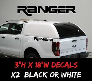 Ford Ranger Rear Bedside Vinyl Decals Truck Bed Graphics Tailgate Windshield