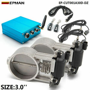 3 Exhaust Control 2 Set Valve Dual Set W Remote Cutout Pipe Vacuum Pump Kit