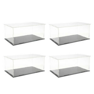 4x Clear Display Stand Protectors Showcase Box For Rg Gundam Model Vehicles