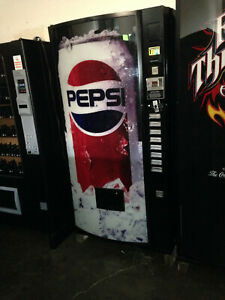 3 Dixie Narco 368 8 Bubble Front Soda Vending Machine Pepsi coke W bill Acceptor