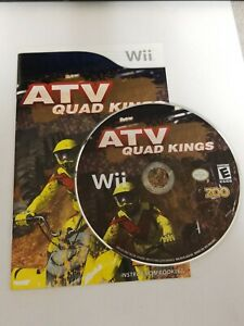 ATV Quad Kings - Nintendo Wii Game Disc And Instruction Booklet