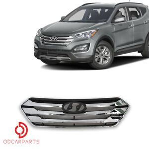 Fits Hyundai Santa Fe Sport 2013 2015 Sport Only Front Upper Grille Chrome
