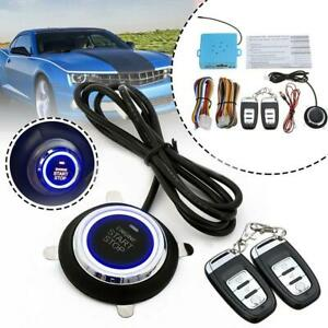Car Alarm System Remote Control Entry Engine Keyless Start Push Button Safety