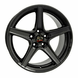 18 Black Wheel 18x10 Fit For Mustang Saleen Style Rim