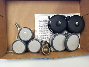 Casters 4 Or 3 Inch Twin Wheel Gray Or Black 2 Brown Rolling Ball Caster