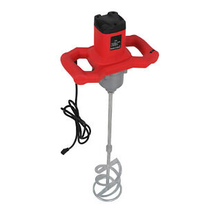 Electric Mortar Mixer 1600w Dual High Low Gear 7 Speed Paint Cement Grout 110v