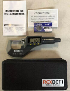 Digital Micrometer Professional Inch metric Thickness Measuring Tools Resolution