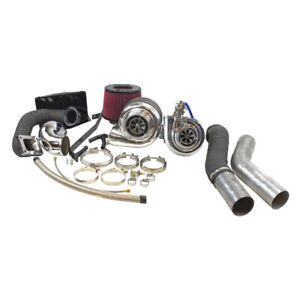 Industrial Injection Quick Spool Compound Turbo Kit For 94 02 Dodge Cummins