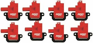Msd 82628 Ignition Coil For Ls1 ls6 Engine pack Of 8