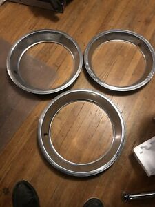 Set Of 3 Gm 15 Inch Wheel Trim Rings 60s 80s Chevy Pontiac Oldsmobile Buick