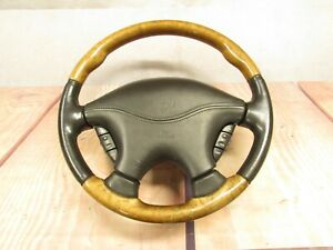2000 2002 Jaguar S type At Steering Wheel Assembly Wood Grain Leather