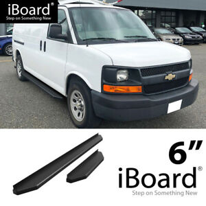 Iboard Black Running Boards Style Fit 03 20 Chevy Express Gmc Savana
