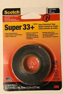 Super 33 Vinyl Electrical Tape 3 4in X 37 5ft