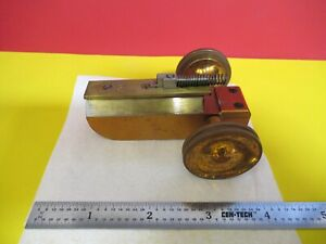 Antique Brass Spencer Buffalo Stage Micrometer Microscope Part As Pic