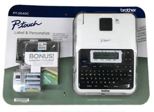 Brother P touch 2040c Label Maker With Two Bonus Laminated Tze Tapes New