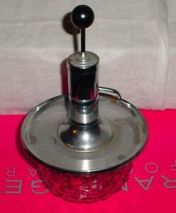 Condiment Dispenser Pumps Glass Bottom Top Stainless Steel For Mustard Ketchup