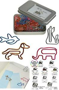 Cool Paper Clips Assorted Colors Animal Shaped Bookmark Clips Funny Desk Acc