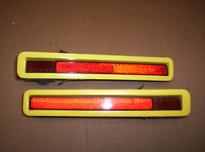 1970 71 Plymouth Cuda Barracuda Red Side Marker Lights Assembly Rear L R