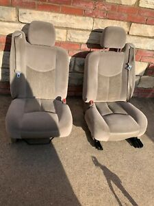 2003 2006 Chevy Tahoe Avalanche Left And Right Power Front Seats Yukon Tan