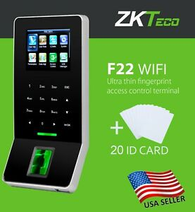 Zk F22 Wifi Tcp ip Fingerprint Time Clock Access Control With Em Id Card