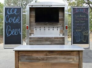 Custom Built Cold Refrigerated Draft Beer Beverage And Entertainment Trailer